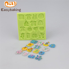Durable Baby Accessories Silicone Fondant Mold For Cake Decorating