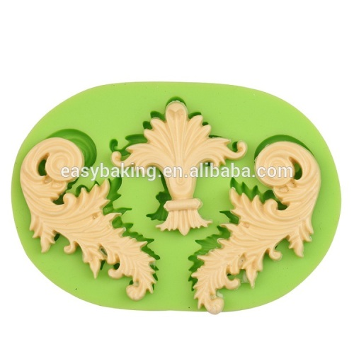 Easy to clean baroque artist silicone fondant molds cake baking tools