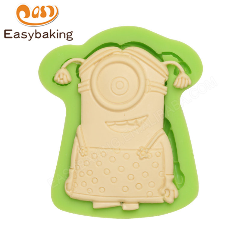 Lovely Minions Silicone Molds Fondant Moulds for cake decorating