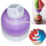 Tri-Coluer Cake Decoration Russian Piping Tips Coupler Nozzles
