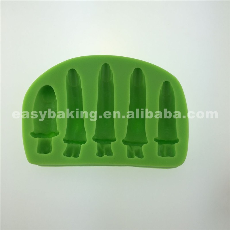 Mischief Human Finger Shaped Polymer Clay Halloween Theme Silicone Molds