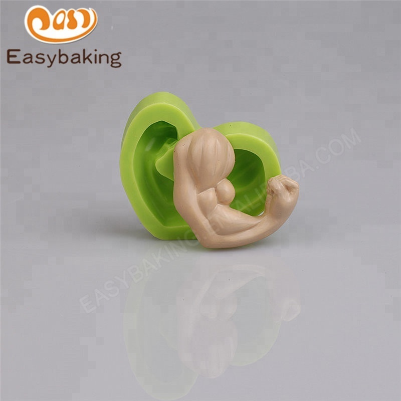 3D Strong Arm Muscles Silicone Fondant Mold Cake Decorating Pastry
