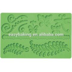Silicone Fondant Fern Cake Border Mold Lace Baking Decoration Tool