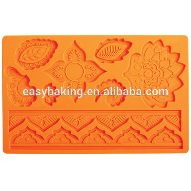 Cake Decorating Floral & Lace Arch Multi Mat Silicone Mould