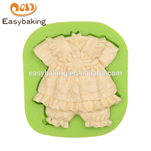 New arrival 2017 wholesale fashion baby dress with sunflowers silicone molds