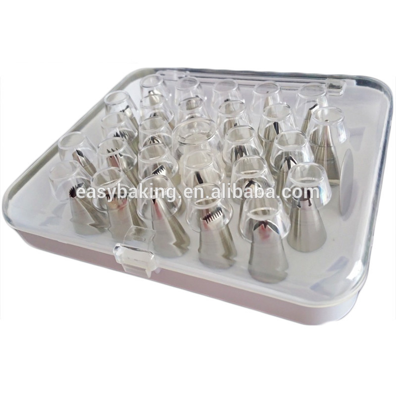 Cupcake decorating tools 304 stainless steel 26 pcs piping tips set