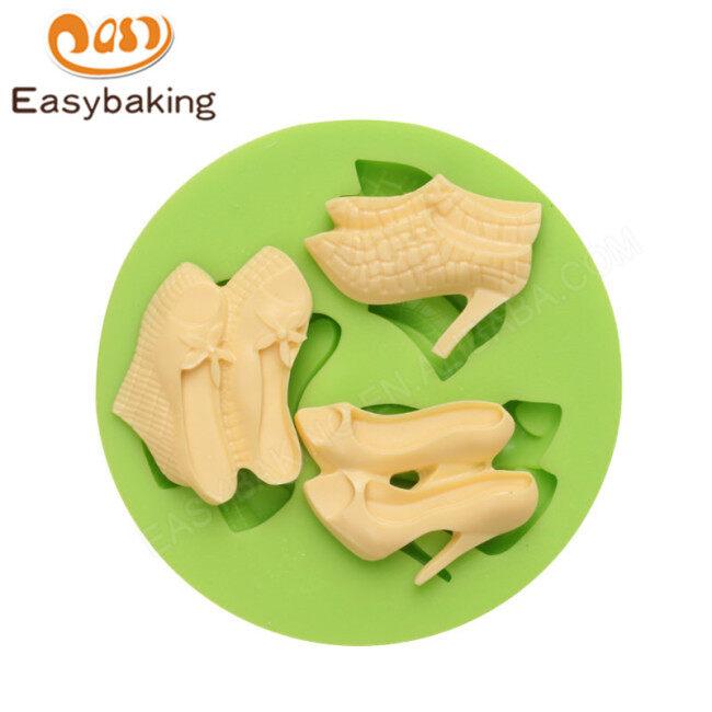 Women's high heel liquid 3D silicone mold DIY baking decorative cake flip candy biscuit mold