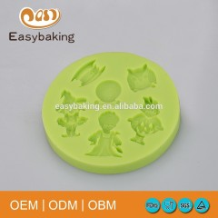 Halloween Witch Girl Boy Owls Mirror Cake Decoration Silicone Fondant Mould