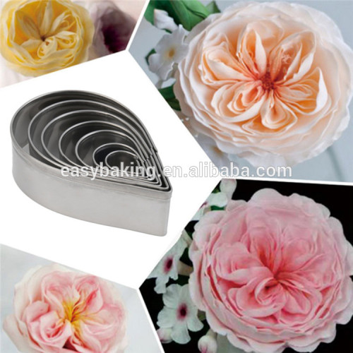 7pcs/set Kitchen Baking Fondant Party Wedding Decor Water Droplet/Rose Petal Cookie Cake Cutters