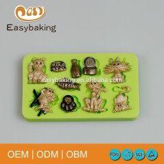 New Design Fish Cats Footprints DIY Cupcake Cookie Fondant Cake Silicone Decoration Mold