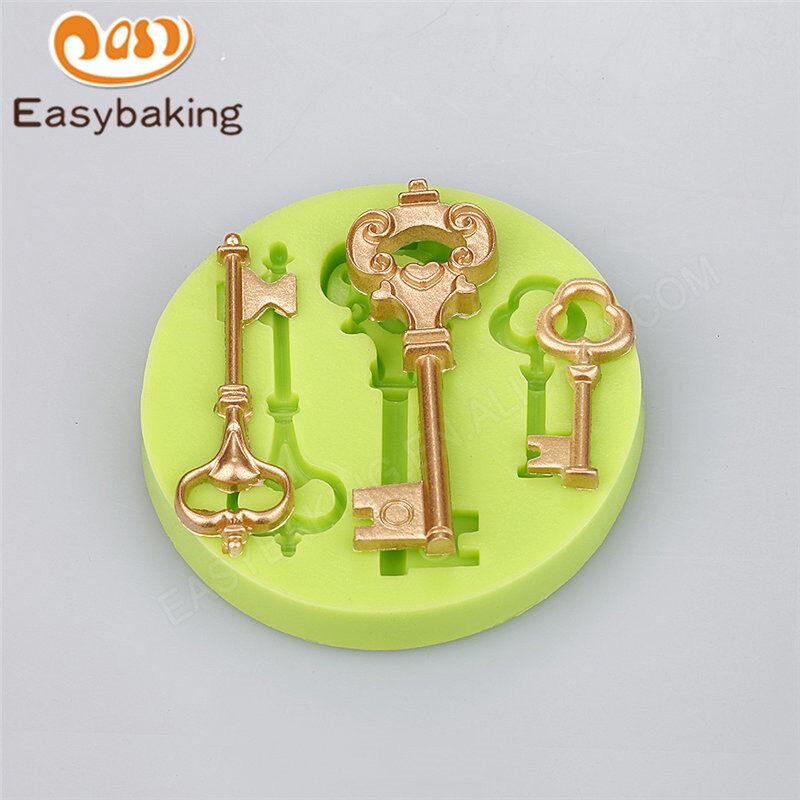 Unique Key Shape Silicone Cake Fondant Chocolate Decorative Mould