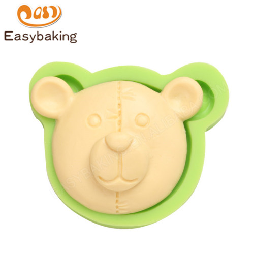 Teddy Bear Head Silicone Mould Cupcake Cake Topper Decoration