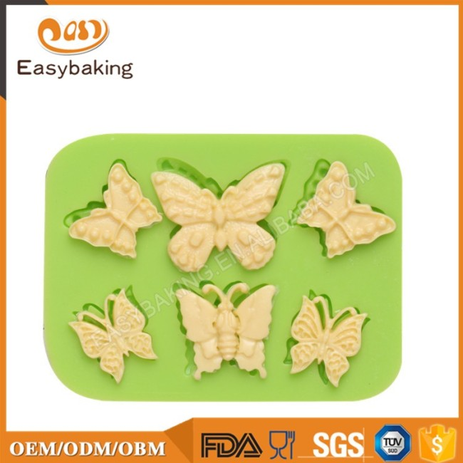 Discount Wholesale Products 3D Candy Silicone Mold Butterfly