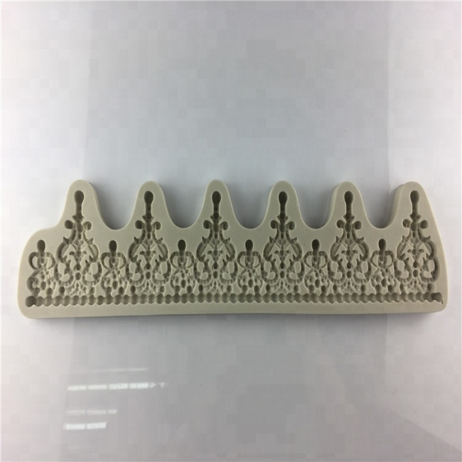 Long Princess Crown Cake Tooper Decoration Silicone Mold