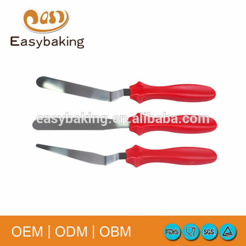 Hot sale set of 3 high quality cake spatular for cake decoration