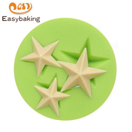 3D star Cake Fondant Cake Decoration silicone Mould