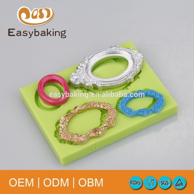 A Variety Of Styles Vintage Photo Frame Silicone Bracelet Molds For Cake Decorating Hand Craft