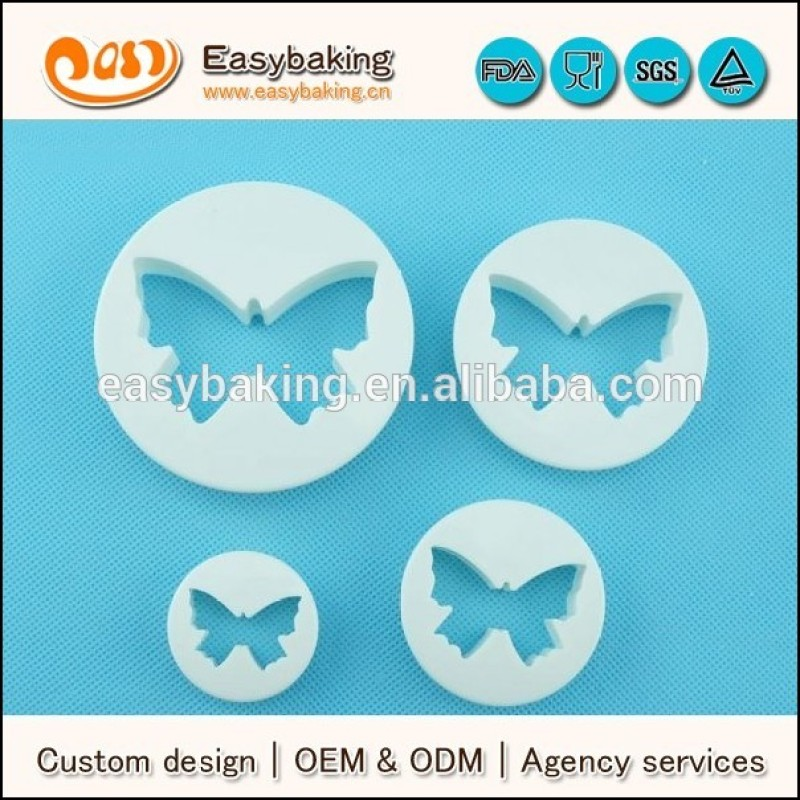 Wholesale alibaba food grade plastic butterfly 3d cookie cutter