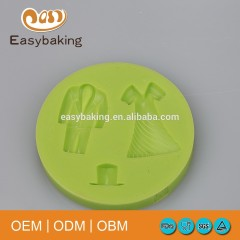 A Suit Of Men Lady Dress Jazz Hat Silicone Bakeware Fondant Molds For Wedding Cake Decorate