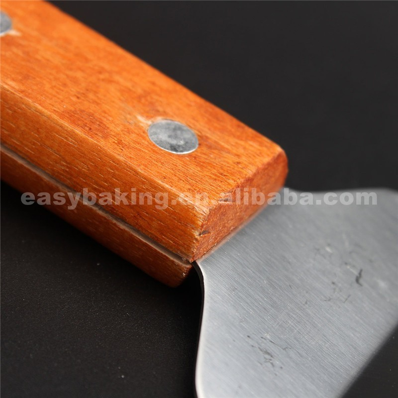 Stainless Steel With Wooden Handle Pizza Cheese Shovel Cake Knife Scoop