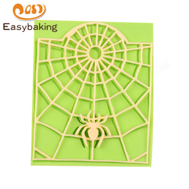 Spider Cobwebs Silicone Halloween Fondant Cake Mould