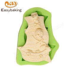 3D boat fondant silicone mold cake silicone fondant mold