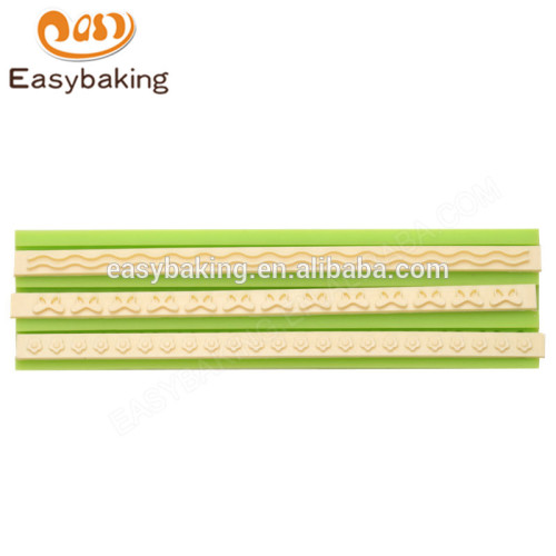 New design cheap 160*43*8 different silicone molds for cake decorating