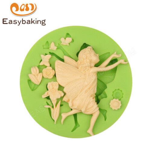 Angel shaped silicone cake mold for fondant cake decoration