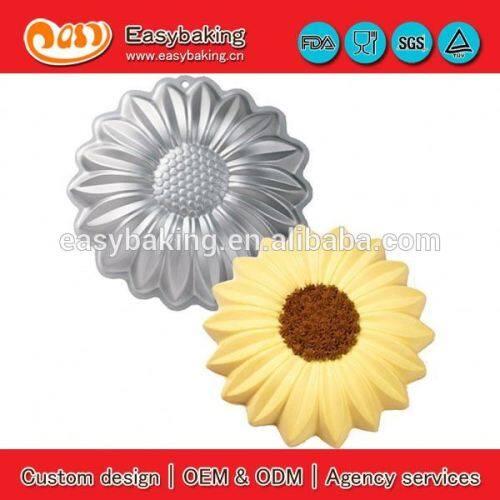 Customized 3D sunflower Aluminium cake mould baking pan