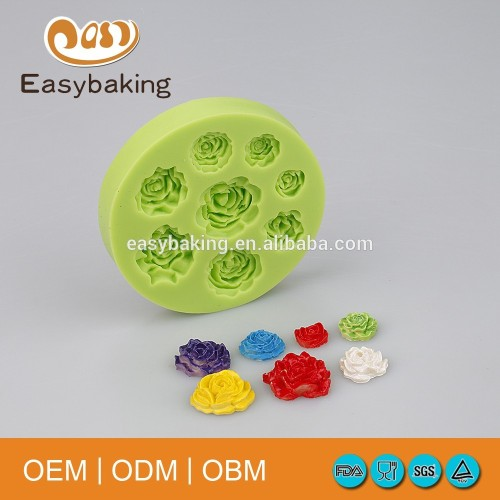 Different Designs 3D Silicone Fondant Mold For cake Decoration