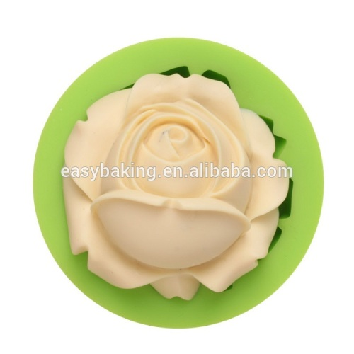 FDA approval rose flower shape handmade silicone soap mold