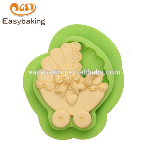 Factory customized cheap food grade baby carriage silicone mould