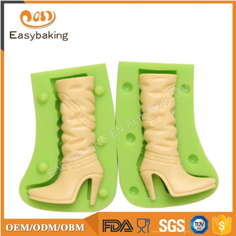 Best Selling Souvenir Chocolate Thigh Boot Shoe Mold Silicone