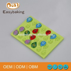 Lollipop Letter Cake Decoration Silicone Fondant Mold For Sweet