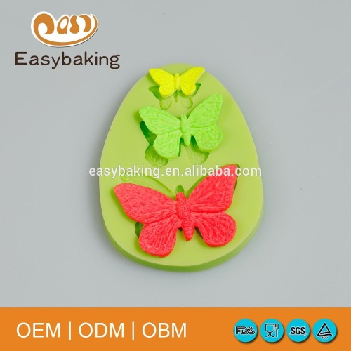 Factory Cheap Price Insect Item Cake Decorating Butterflies Silicone Cupcake Mold