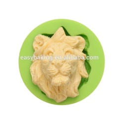 Custom animal series 3d lion silicone soap molds cupcake mould