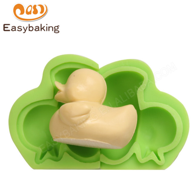 Wholesale Cute 3D Duck Silicone Clay Molds