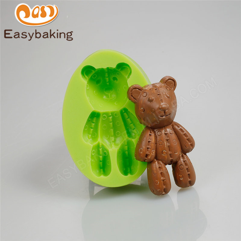3D decorative bear silicone soap mold for cake