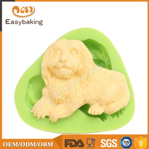 2017 Interesting Promotion Dog Shaped Biscuit Molds Silicone
