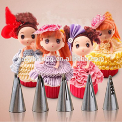 New Designs Icing Piping Nozzles Cupcake Cool Ruffle Tips