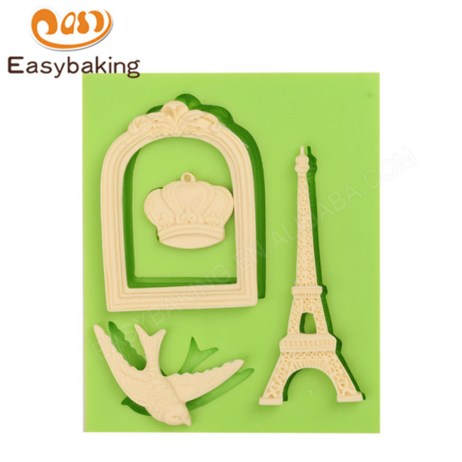 Cake Decoration Silicone Mold Eiffel Tower Crown Shape