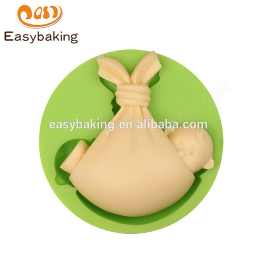 High Quality factory supply customized lovely awake baby silicone mold