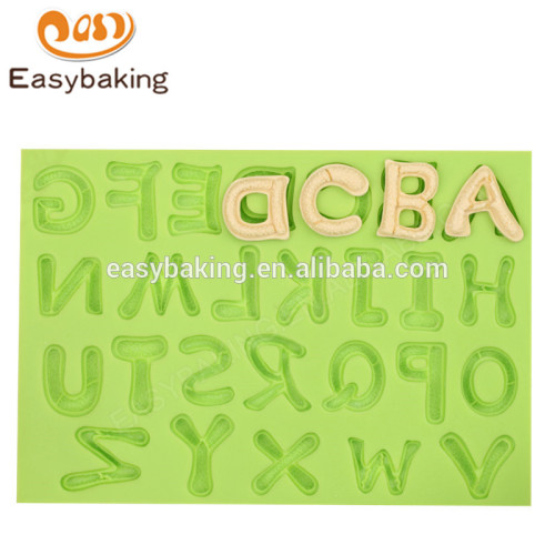Selling products custom alphabet silicone chocolates mould