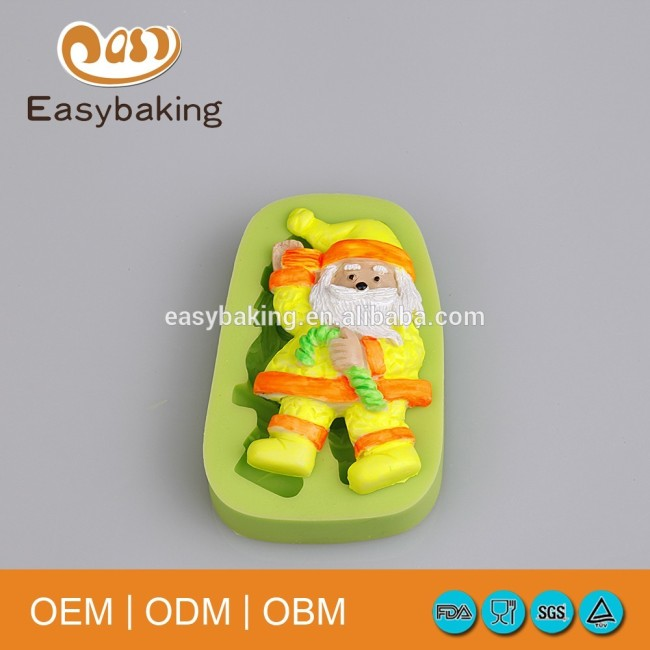 Wholesale Cheap 3D Christmas Santa Claus silicone molds for cake decorating and fondant cake mold