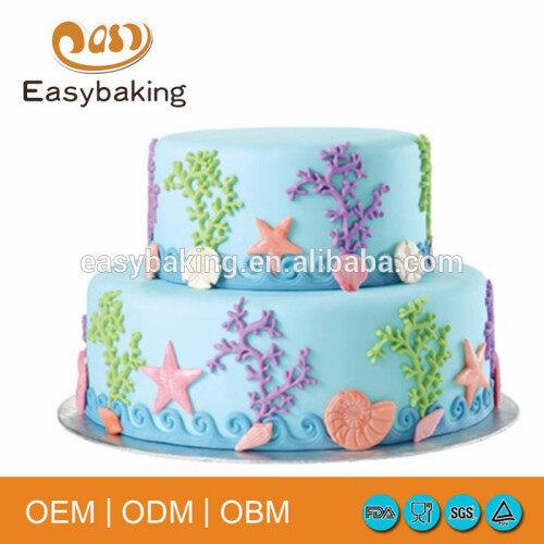 Easybaking FGM-006 Sea Life Fondant and Gum Paste Mold Non-stick Silicone Baking Mat