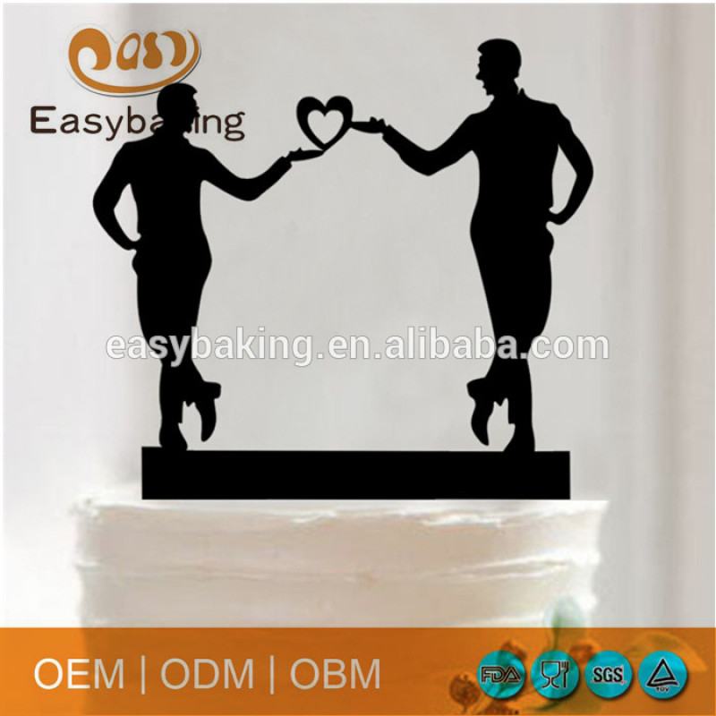 Acrylic Gay Wedding Cake Topper