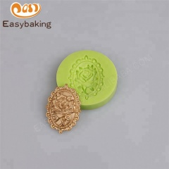 Rose Border Plaque Silicone mould for Cake Decorating