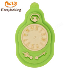 Hot Sell Steampunk Clock Watch Cupcake Decor Silicone Mold