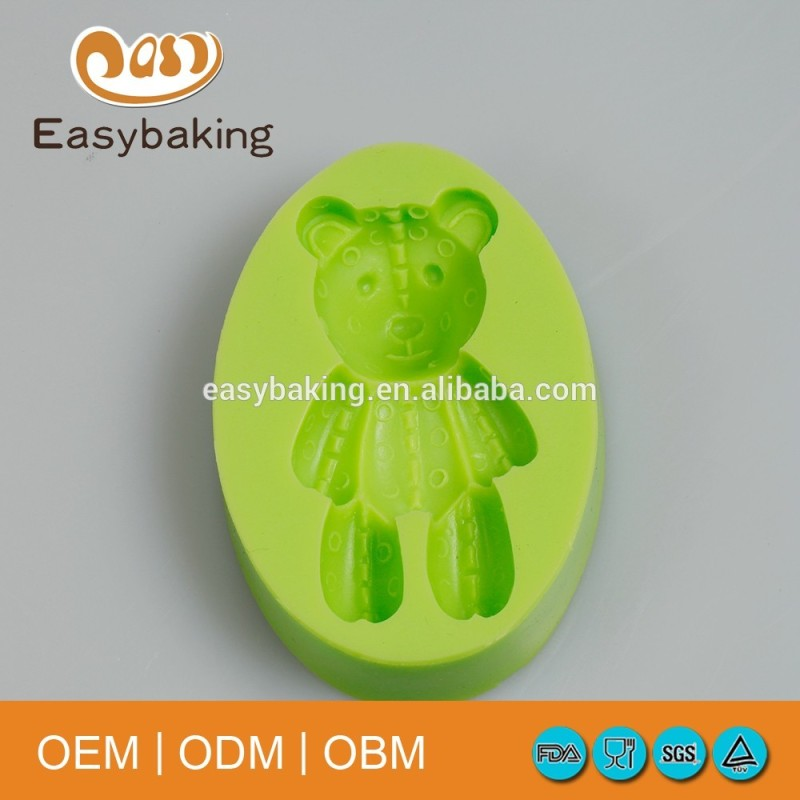 Food grade cute bear shaped soap making silicone molds