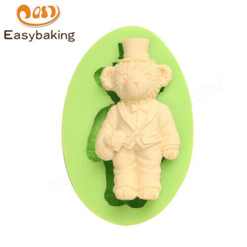 DIY Chocolate Wedding Teddy Groom Bear Silicone Mold